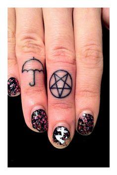 Love the umbrella - Kelco Finger Tattoos