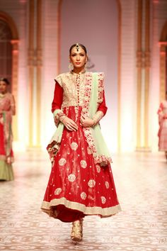 Red and Golden Bridal Work