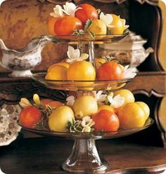 Southern Living - decorating with citrus fruit from Florida