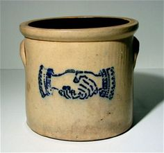 handshake crock...would love to have this to add to my stoneware!