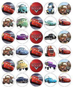 Disney Cars Lightning Mcqueen Cupcake Toppers Edible Paper Buy 2 Get Free Disney Cars Cupcakes, Disney Cars Party, Disney Cars Birthday, Disney Cookies, Car Themed Parties, Cars Birthday Parties, Vintage Jeep, Edible Cupcake Toppers, Car Themes