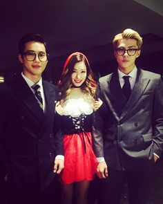 SM Halloween Party 151029 : SMTOWN WONDERLAND - Suho and Sehun in Tiffany of SNSD's IG Update