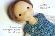 Adding shoulders to your doll pattern, by Fig and me.