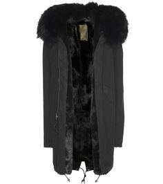 Mr & Mrs Italy - Fur-lined cotton parka with fur-trimmed hood - Urban cool meets timeless luxury for this Mr & Mrs Italy parka. The classic black shade and unfussy silhouette make the oh-so soft black rabbit fur lining a luscious surprise. As practical as it is polished, it's the perfect outerwear purchase for the new season; it'll work with everything from skinny leather to relaxed-fit denim. seen @ www.mytheresa.com