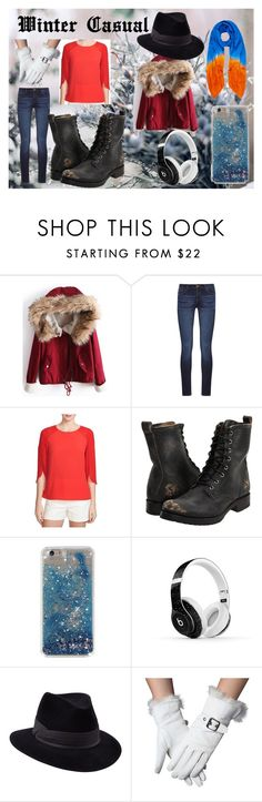 """Winter Casual"" by mysterious-archer on Polyvore featuring DL1961 Premium Denim, 1.State, Frye, Beats by Dr. Dre, Penmayne of London, Winter and casualoutfit"