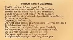 From The Mystery of Love, Courtship and Marriage Explained by Henry J Wehman, published in 1890. Postage Stamp Flirtation