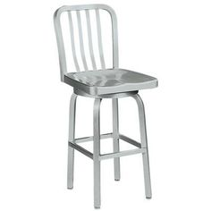 Sandra Swivel Counter Stool With Aluminum Seat Swivel/Metal Aluminum by Home Decorators Collection $159