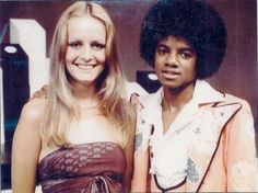 MJ and famous english model Twiggy  Middle of the 70's