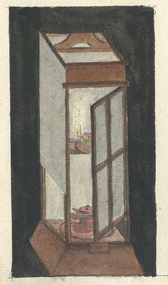 Japanische Lampe, Ausschnitt aus dem Skizzenbuch, Hochschularchiv ETHZ (Hs_0296-0002d-et)