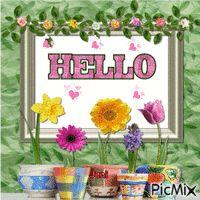 hello Hello Goodbye, Say Hello, Hello Pictures, Friendship Flowers, Glitter Gif, Random Gif, Gif Photo, Glitter Graphics, Happy Baby