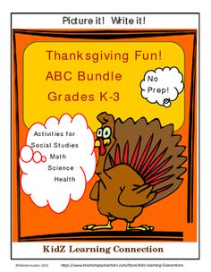 This interactive notebook provides an overview of the history and meaning of Thanksgiving through English language arts, science, social studies, math and health activities!  Students in grades K-3 will have fun learning about the Mayflower, Pilgrims and the first Thanksgiving through letters of the alphabet activities.