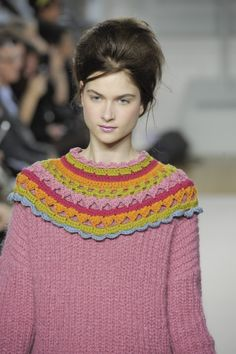 lovely cowl over sweater - inspiration