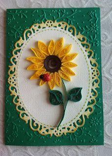 Słoneczne słoneczniki quilling