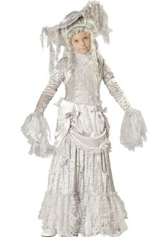 Ghostly Lady Girls Deluxe Costume, $129.99 - The Costume Land
