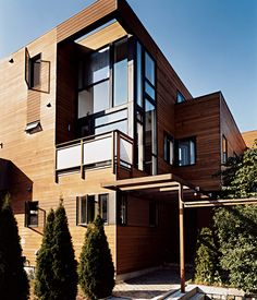 The Buildingu0027s South Elevation. The Lofty Double Height Balcony, With  Windows Leading Into
