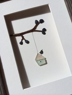 Sea glass birdhouse by sharon nowlan by PebbleArt on Etsy