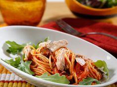 Recipe Zesty Tomato Barilla PLUS® Spaghetti with Tuna and Black Olives - Barilla