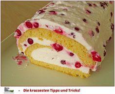Biskuitrolle mit Joghurt - Sahnefüllung für Diabetiker geeignet ♥