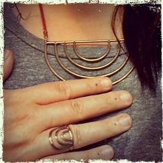 New jewels from @teresa robinson of Stone & Honey. Arcos collection: Porta ring & necklace.