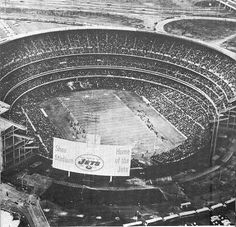 Shea Stadium - I saw the last football game played there which also happened to be Terry Bradshaw's last game.