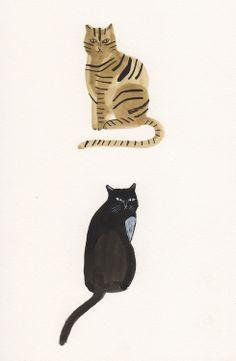 cat encounters (by kaye blegvad)