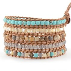 Turquoise & Shell on Natural