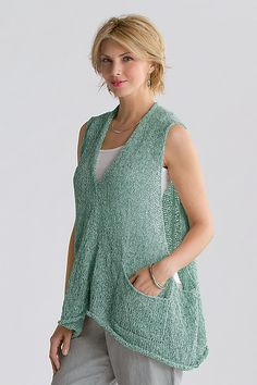 Vector Vest by Amy Brill: Knit Sweater available at www.artfulhome.com