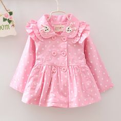 Cheap baby girl trench coat, Buy Quality girls trench directly from China baby coat autumn Suppliers: New spring Autumn Baby Girls Trench Coat hoodies imitation Tencel cute jackets kids coats outfit Frocks For Girls, Dresses Kids Girl, Kids Outfits, Toddler Fashion, Fashion Kids, Style Fashion, Autumn Fashion, Girls Trench Coat, Baby Frocks Designs