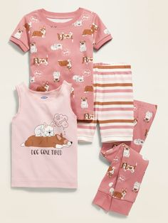 """Dog Gone Tired"" 4-Piece Pajama Set for Toddler Boys & Baby 