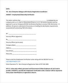 Sample Employment Verification Letter Examples Word Pdf Appointment Confirmation Formal Written For The