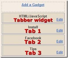 How to create a multi tabbed gadget in blogger sidebar