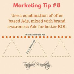 Mix up your advertising campaigns to encompass both CTA & BA Ads. #brandawareness #calltoaction #advertising #roi #marketingstrategy #tw