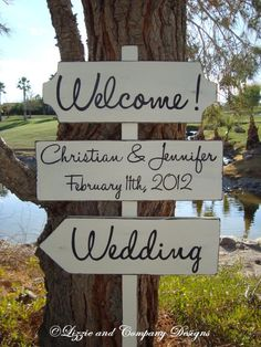 Handwriting Style Lettering - CuSToM WeLCoMe WeDDinG SiGn
