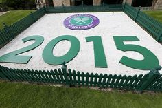 Preparations are well under way at the top of the hill with the 2015 Championships one month away. #Wimbledon #Wimbledon2015