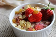 Rhubarb and Strawberry Overnight Oats