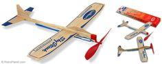 Sky Streak Balsa Wood Plane Toy Twin Pack