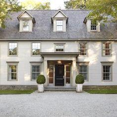 Trendy home exterior colonial shutters ideas Best Exterior Paint, Exterior Paint Colors For House, Paint Colors For Home, Exterior Colors, Exterior Design, Exterior Shutters, Black Shutters, Paint Colours, Gray Exterior