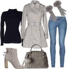 Fashion in trench  outfit donna Trendy per ufficio  98018d67aa4