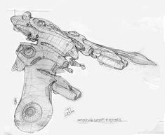 Octopi class fighter: sketch by Richard-Daborn.deviantart.com on @deviantART