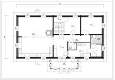 Pohjalaistalo 7 116m2 + 91m2 | Rakennus Luoma Oy Koti, Floor Plans, Random, Casual, Floor Plan Drawing, House Floor Plans