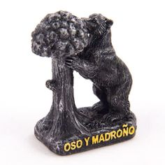 Collectible Miniature House: Spain. Mini Figurine from Madrid. Symbol of Madrid - Statue of the Bear and the Strawberry Tree