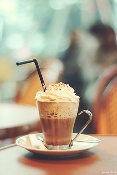 Café viennois | 14 Coffee Drinks To Break Your Coffee Rut. A classic in the cafés of Budapest and Vienna, the viennois is made of espresso, hot milk, and whipped cream. Make it iced and it's MMM YUM.