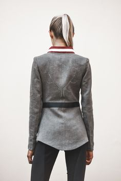 Models, Leather Jacket, Blazer, Fashion, Equestrian, Mandarin Collar, Get Tan, Jackets, Woman