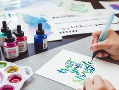 Brush Lettering with Watercolor, new class!