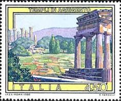 Agrigento temples stamp