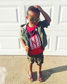 Camo Day 🇺🇸 Honoring our military, we are so grateful for freedom! 🙏🏼 #camo #aviators #flipflops #gq #poser #kidmodel #boymom #usa #redwhiteandblue #teamamerica #style #ootd #ff #tgif #dimples #mixednation @carters #military #marines #army #navy #airforce #murica #usaf #honor #respect