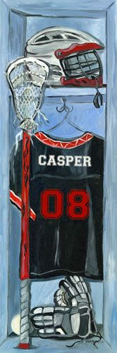 Lacrosse Locker Canvas Reproduction by Jones Segarra - Oopsy daisy Painting Personalised Canvas, Personalized Wall Art, Daisy Painting, Watercolor Painting, Vsco, Wooden Projects, Letter Wall, Lacrosse, Canvas Wall Art