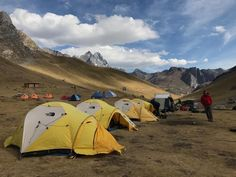 All set up at our first camp on the Huayhuash.
