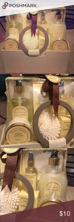 Gift basket Vanilla scented hygiene bundle - sealed Contains - 16.2fl.oz. Shower Gel - 16.2fl.oz. Bubble Bath - 4.4fl.oz. Body Mist - 4.4fl.oz. Body Lotion - 4fl.oz. Body Scrub - 3.5oz. Bath Salts - Also contains: Eva poof, Cotton Towel & Shower Cap ✅Great deal!✅ Save with bundle discounts💰 I also offer customized bundles🛍  Interested? Leave a comment below 👇🏼 ~~~~~~~~~~~~~~~~~~~~~~~~~~~~~~ bath and body works Makeup