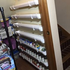 Reader Project: Ultimate Can Storage System A reader project from The Family Handyman! Organisation Hacks, Garage Organization Tips, Organizing Hacks, Diy Garage Storage, Diy Kitchen Storage, Basement Storage, Kitchen Organization, Pantry Diy, Garage Storage Solutions